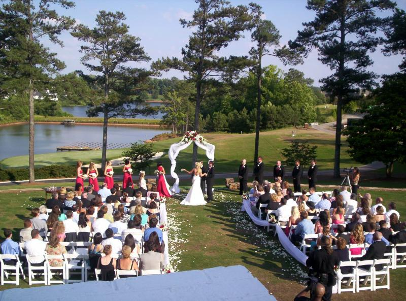 Pastor Johnson Performing Wedding On The 18th Hole At Tpc Sugarloaf For Professional Golfer Tim Simpson